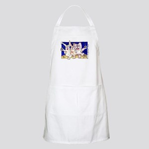 Cute Cartoon Rabbit Moon BBQ Apron