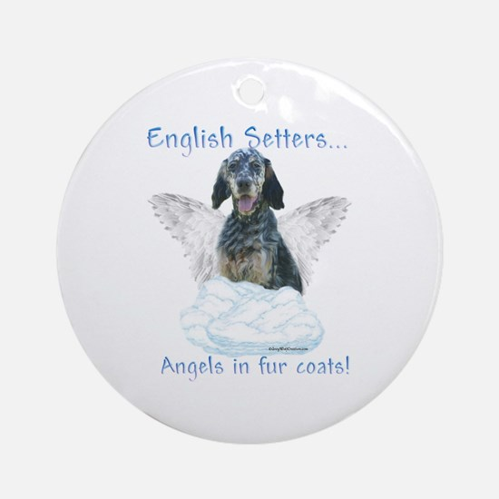 English Setter Angel Ornament (Round)