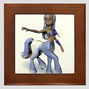 Lila the Centaur Girl Framed Tile