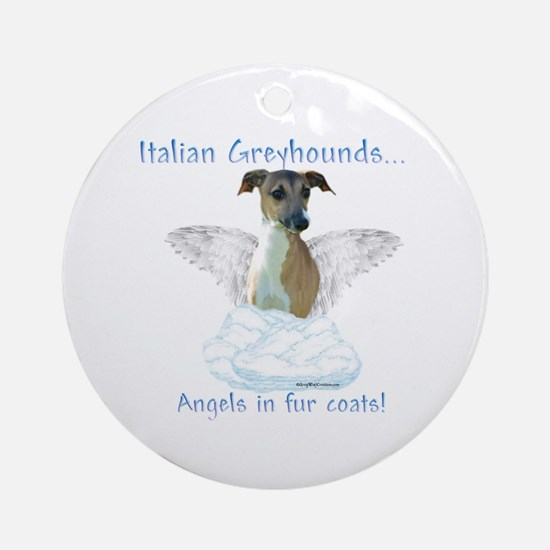 Iggy Angel Ornament (Round)
