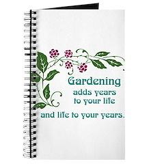 Gardening adds Years Journal