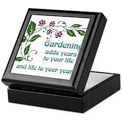 Gardening adds Years Keepsake Box