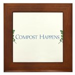 Compost Happens Framed Tile