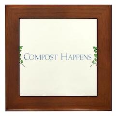 Compost Happens Framed Tile
