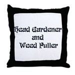 Head Gardener Throw Pillow