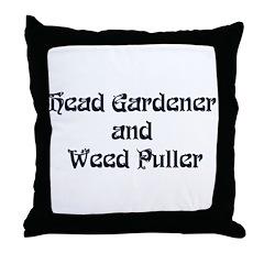 Head Gardener Throw Pillow