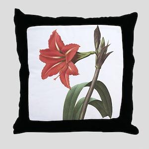 Redoute amaryllis Throw Pillow