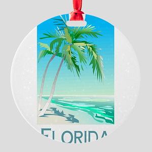 Florida Palms Round Ornament