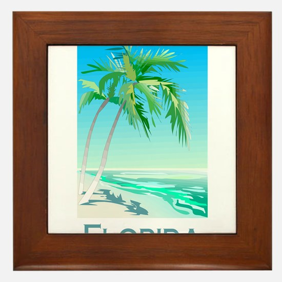 Florida Palms Framed Tile