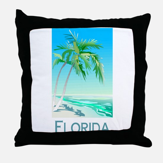 Florida Palms Throw Pillow