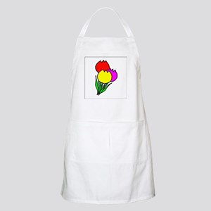Colorful Tulips BBQ Apron