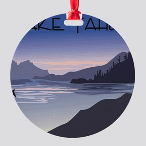 Lake Tahoe Round Ornament