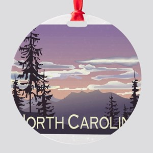 North Carolina Mountains Round Ornament