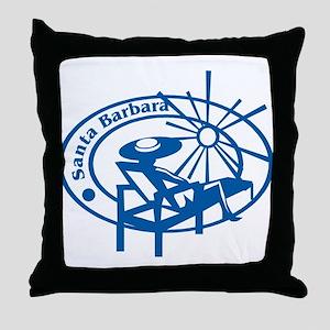 Santa Barbara Passport Stamp Throw Pillow