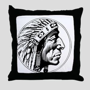 Indian Head Throw Pillow