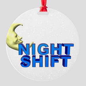 Night Shift Round Ornament