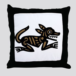 Tribal Dog Throw Pillow