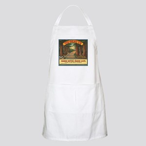 Yosemite Fruit Crate Label Apron