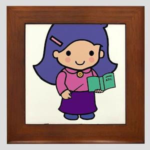 Future Teacher - girl Framed Tile