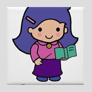 Future Teacher - girl Tile Coaster