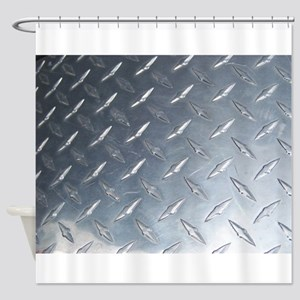 Diamond Plate Shower Curtain