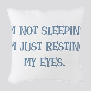Resting My Eyes Woven Throw Pillow