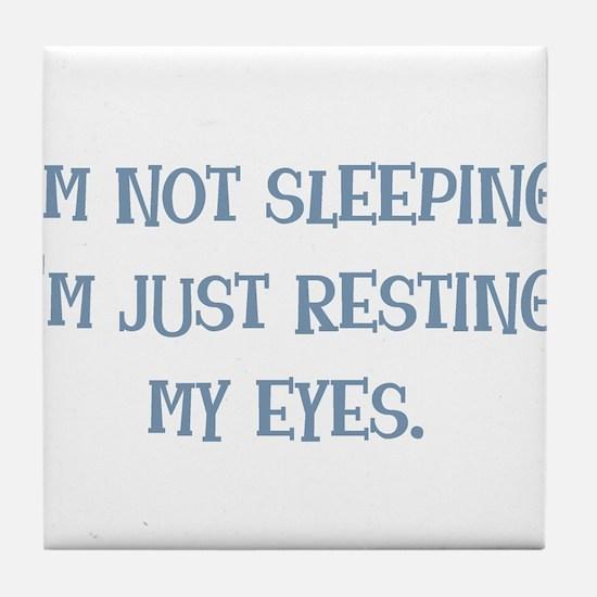Resting My Eyes Tile Coaster