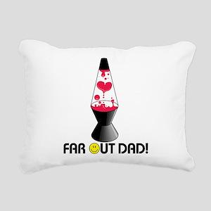 Far Out Dad Rectangular Canvas Pillow