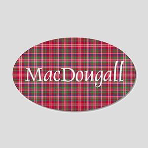Tartan - MacDougall 20x12 Oval Wall Decal
