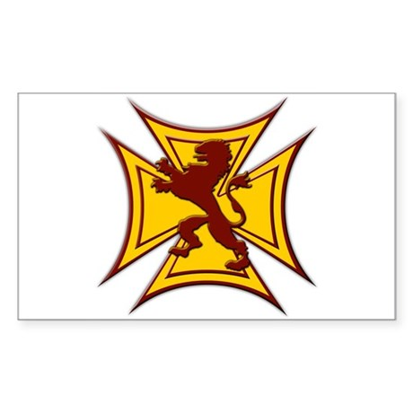 Royal Scottish Biker Cross Rectangular Sticker