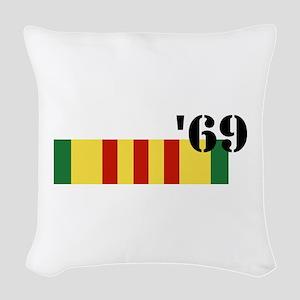Vietnam 69 Woven Throw Pillow