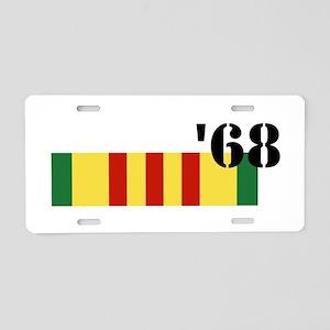 Vietnam 68 Aluminum License Plate