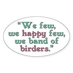 Band of Birders Sticker (Oval)