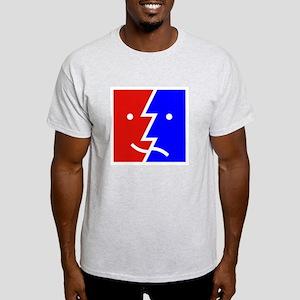 comedy tragedy square 01 Light T-Shirt