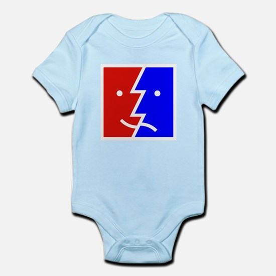 comedy tragedy square 01 Infant Bodysuit