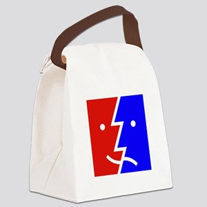 comedy tragedy square 01 Canvas Lunch Bag