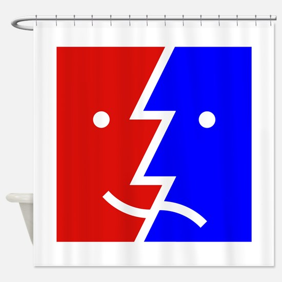 comedy tragedy square 01 Shower Curtain