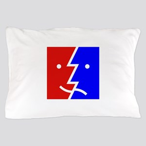 comedy tragedy square 01 Pillow Case
