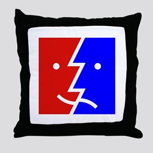 comedy tragedy square 01 Throw Pillow
