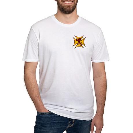 Royal Scottish Biker Cross Fitted T-Shirt