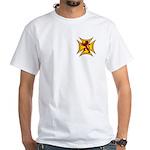 Royal Scottish Biker Cross White T-Shirt