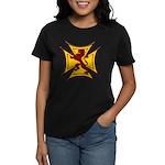 Royal Scottish Biker Cross Women's Dark T-Shirt