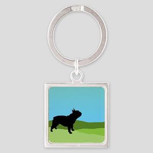 Blue Sky French Bulldog Keychains