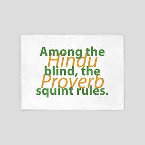 Among The Blind 5'x7'Area Rug