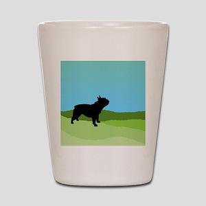 Blue Sky French Bulldog Shot Glass