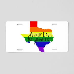 Wendy Davis Rainbow Aluminum License Plate