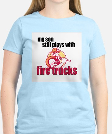Still Plays with Firetrucks Son T-Shirt