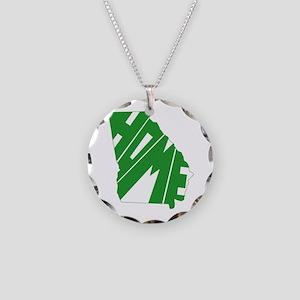 Georgia Home Necklace Circle Charm