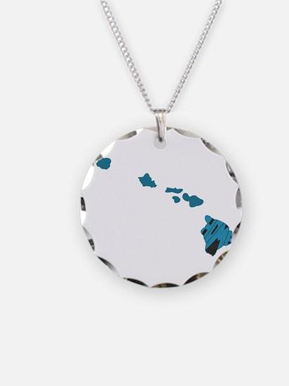 Hawaii Home Necklace Circle Charm
