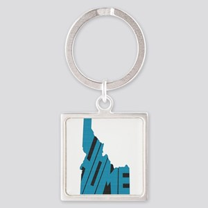 Idaho Home Square Keychain